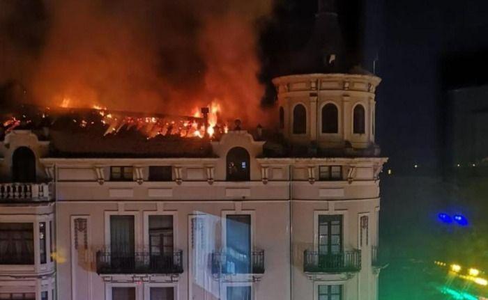 [Última hora Madrid] Espectacular Incendio en el centro de Madrid