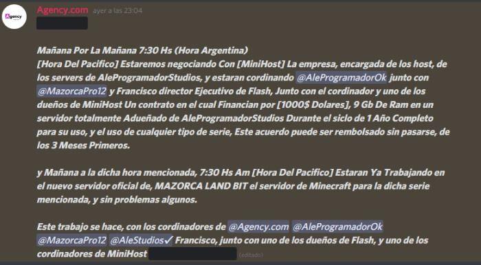 AleProgramadorStudios FIRMA CONTRATO CON MAZORCAPRO12 Y MINIHOST PARA FINANCIAR LA SERIE DE MAZORCA LAND BIT